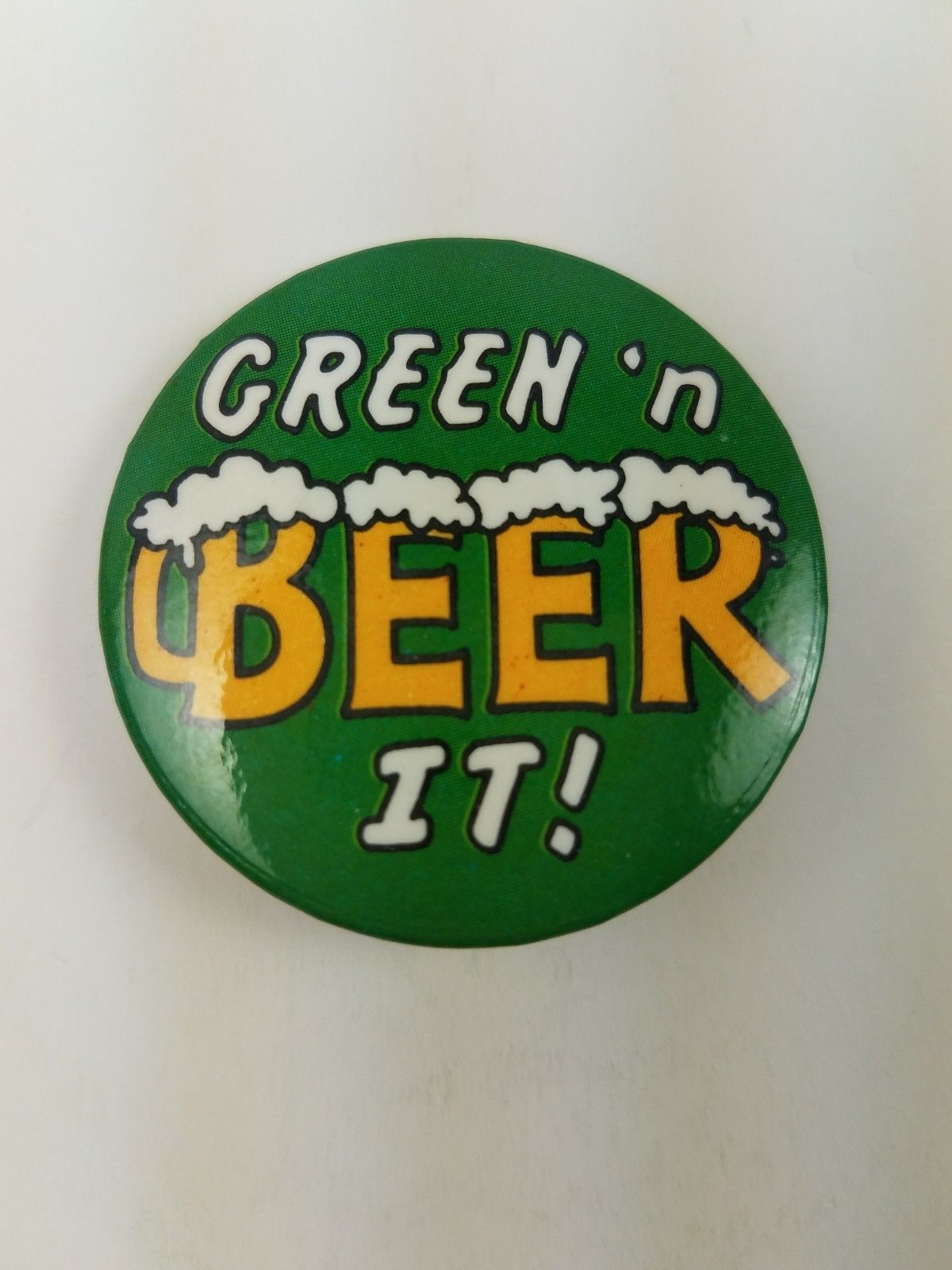 Primary image for Vintage Hallmark Holiday St Patrick's Day Pin Green 'N Beer It
