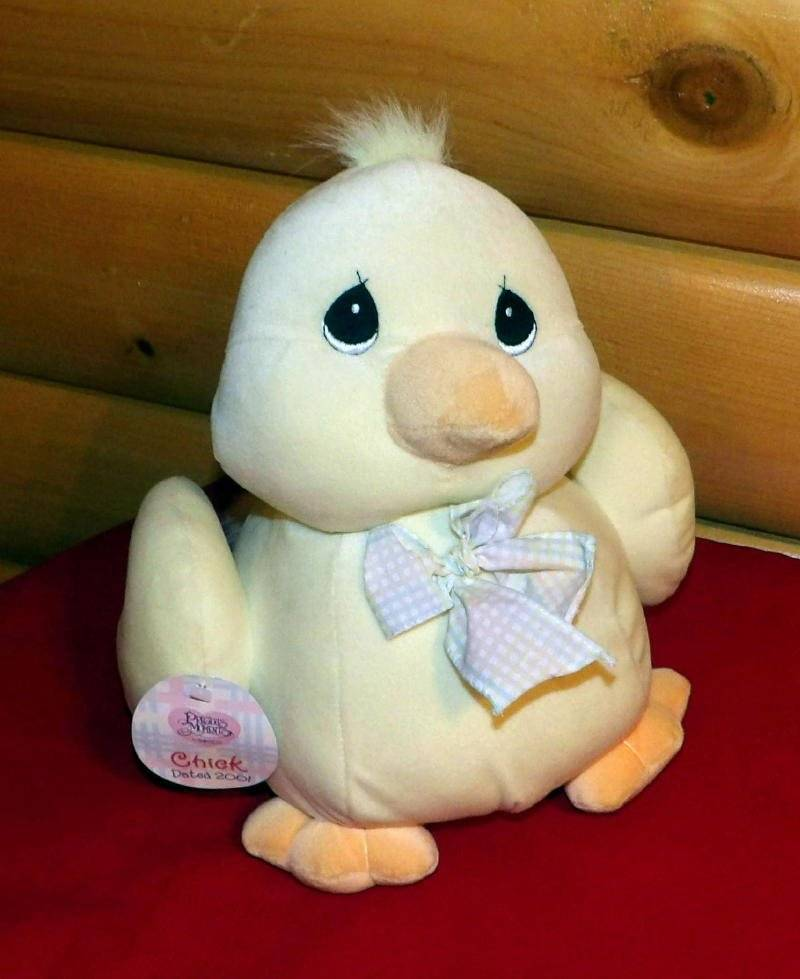 "Precious Moments Plush 12"" Chirping Yellow Plump SpringTime Perfect Chick Duck"