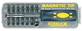 Steelex D2032 Magnetic Tip Screwdriver Bit Set, 30-Piece - $20.80