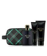 Avon Mesmerize Black For Men Trinity Dopp Gift Set - $45.98