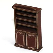 4Ground 28mm Furniture: Medium Wood Book Shelf Cupboard