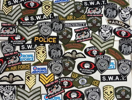 Wholesale Lot Random Iron on Embroidered Military Police Army Patch Patches - $8.99+