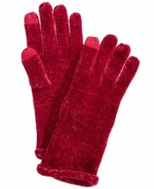 Charter Club Chenille Roll Top Gloves Touchscreen Compatible (Cherry, On... - $20.44