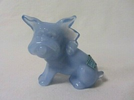 Boyd Glass Parlour Pup Mulberry Mist Dog With Tongue Out Solid Glass Boyd Label - $29.99