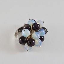 Ring aus Silber 925 A Mp/H mit Amethyst Und Opal Von 8 MM Abmessung Eins... - $78.51