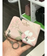 NWT Kate Spade Briar Lane Botanical Dani Pink Leather Key Ring Wallet WL... - $54.44