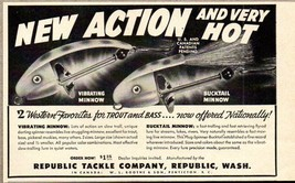 1951 Print Ad Bucktail & Vibrating Minnow Fishing Lures Republic Tackle WA - $8.62