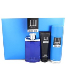 Dunhill desire blue Gift Set -- 3.4 oz Eau De Toilette Spray + 3 oz Show... - $55.00