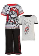 Nuevo Infantil Niños SUPER MARIO 3 Pieza Conjunto de Pijama Nwt