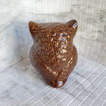 Ceramic Owls, set of 3, Decorative Accents, Fall Decor, orange green brown image 12