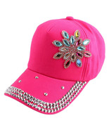 Floral Pattern Polo Hat Boutique Baseball Cap Kids and Children Girl Pink - $15.99