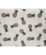 "1 Printed Fabric Tablecloth, 60""x84"" Oblong (6-8 ppl) PINEAPPLES, Laura ... - $22.76"