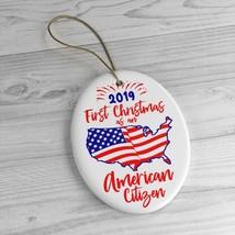 New American Citizen Christmas Ornament / 2019 American Citizenship Gift - $12.95