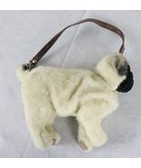 Puppy at Heart Pug Dog Stuffed Plush Purse with Zipper - $19.79