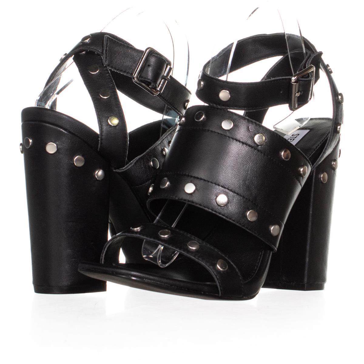 Fs 69535 steve madden jansen ankle strap dress sandals black 1