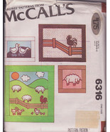 Wall Hangings Quilt Pillows McCall's 6316 Farm Animals Sheep Ducks Chickens - $11.00