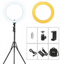 """ZOMEI 18"""" Dimmable Photography (18"""" LED Ring Light +Stand +Orange Filters) - $116.30"""