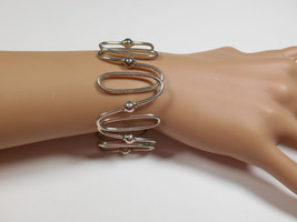 Rare Tiffany & Co Spiral Oval Link Wide Bangle Bracelet Sterling Silver,... - $436.49