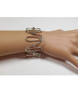 Rare Tiffany & Co Spiral Oval Link Wide Bangle Bracelet Sterling Silver, Pouch - $460.74