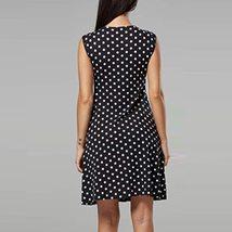 Maternity's Dress V Neck Dotted Print Sleeveless Fashion Dress image 3