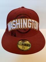 New Era 59Fifty WASHINGTON REDSKINS Team Cap NFL Fitted Hat Sz 7 1/8 - $24.64