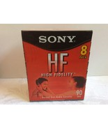 New sealed 8 pack Sony High Fidelity HF 90 min Audio Cassette Tapes Voic... - $19.01