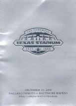Dallas Cowboys Official Game Day Program, Baltimore Ravens, December 20 ... - $2.75
