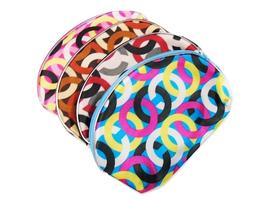"5"" x 8"" Circle Pattern Print Large Zipper Cosmetic Bag - $130,60 MXN"
