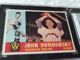 1960   TOPPS  # 87   JOHN  ROMONOSKY   SGC  84    WASHINGTON  SENATORS  ... - $32.99