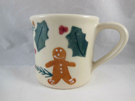 Vintage Hartstone Made in USA Christmas Gingerbread man cookie Coffee Mu... - $11.87