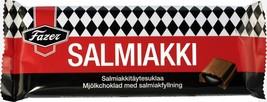 Fazer Salmiakki Licorice Chocolate Bar 100 gram Made in Finland - $5.99