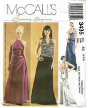 McCALLS EVENING ELEGANCE PATTERN 3435 MISSES PE... - $4.00