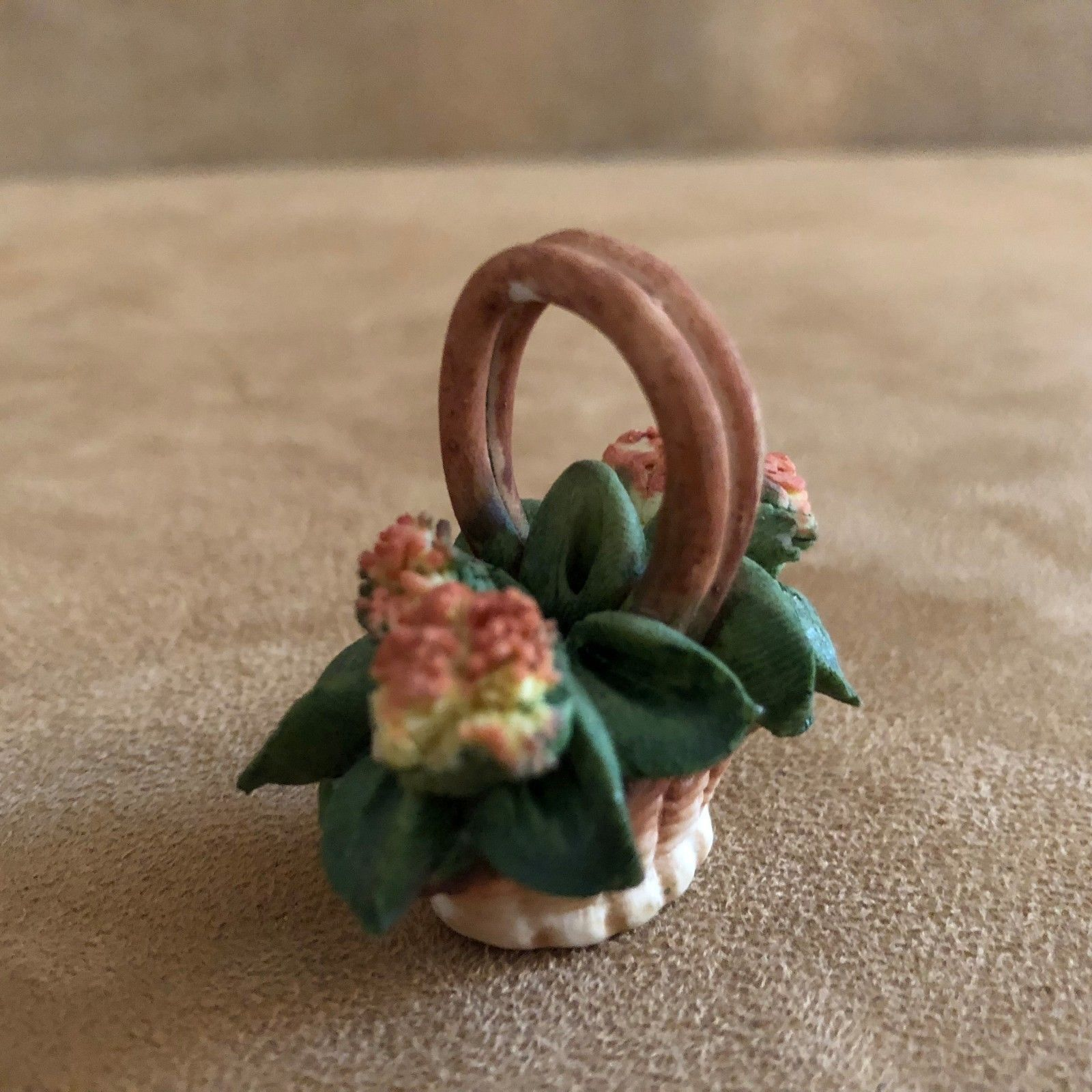 Collectibles Capodimonte Albertini Collection Porcelain Italy Home Decor Pink Flower Vtg