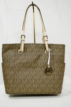 NWT Michael Kors Jet Set East West Travel Large Tote in Signature Brown/... - $159.00
