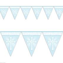Amscan Communion Pennant Banner - Blue #heb - $7.59