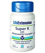FOUR PACK Life Extension Super K With Advanced K2 Complex K1 MK-4 MK-7 - $61.38