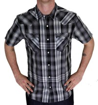 Levi's Men's Classic Casual Button Up Plaid Grey Shirt 3LYSW0182-Gry