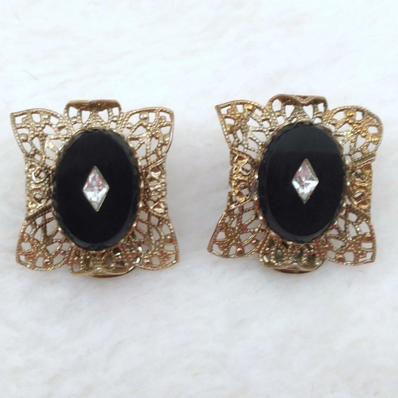 Eb10 sb1 1 filigree onyx earrings 4