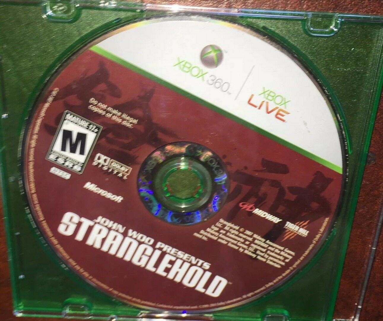 Stranglehold (Microsoft Xbox 360, 2007) Disc Only= FAST FREE SHIPPING=