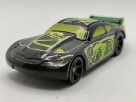 Hot Wheels Mattel 2011 General Mills Cereal Toy Car Pull Back Black Green Dragon - $5.69