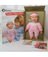 Vintage 1994 Gerber Talking Baby Girl Doll Growing Toy Biz Advertising D... - $148.49