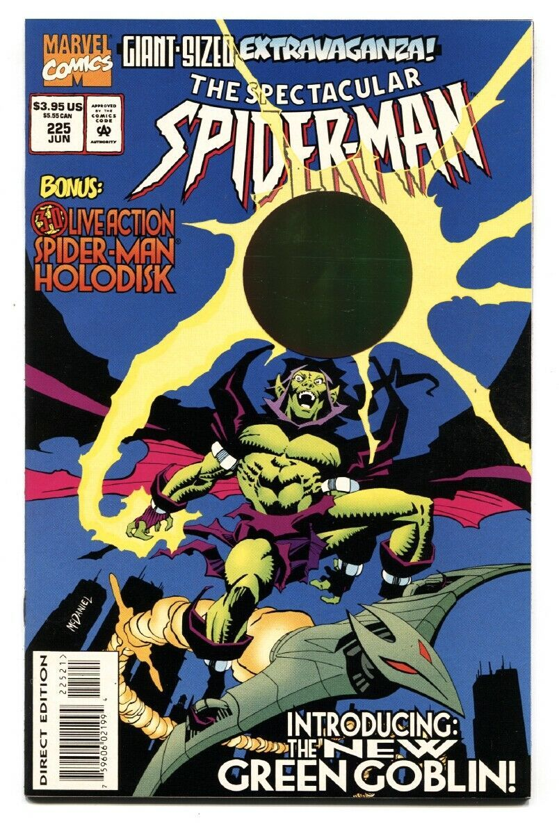 SPECTACULAR SPIDER-MAN #225  FIRST New Green Goblin comic book 1995 - $27.74