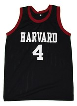 Jeremy Lin #4 Harvard New Men Basketball Jersey Black Any Size image 3