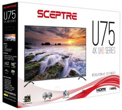 "Sceptre 75"" Class 4K Ultra HD (2160P) LED TV (U750CV-U) image 8"