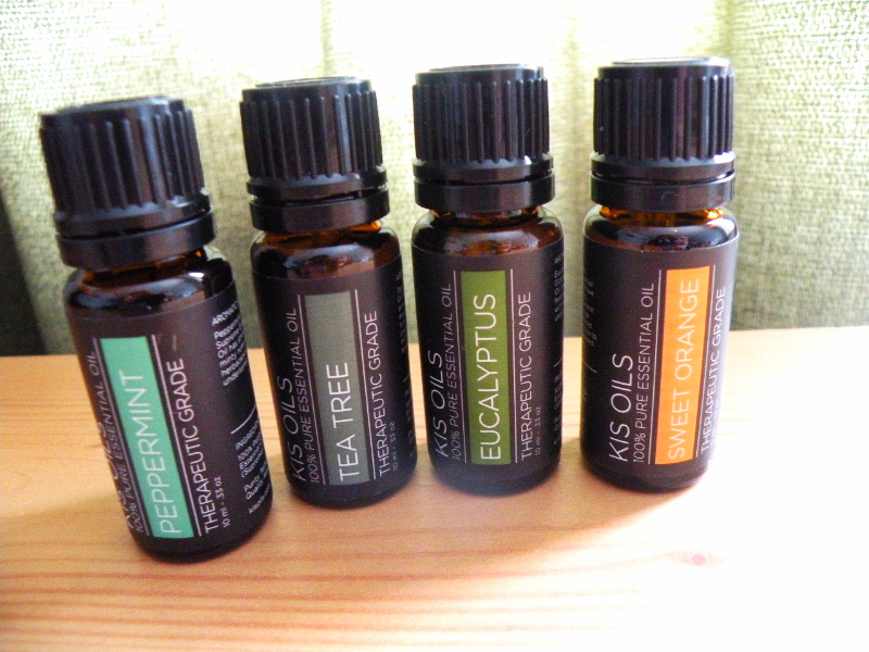 Kis Oil 100% Pure Essential Oil  Sweet Orange, Tea Tree, Peppermint, Eucalyptus