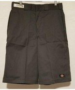 Mens Charcoal Grey Dickies Multi Pocket Loose Fit Work Shorts Size 32x13 - $15.80