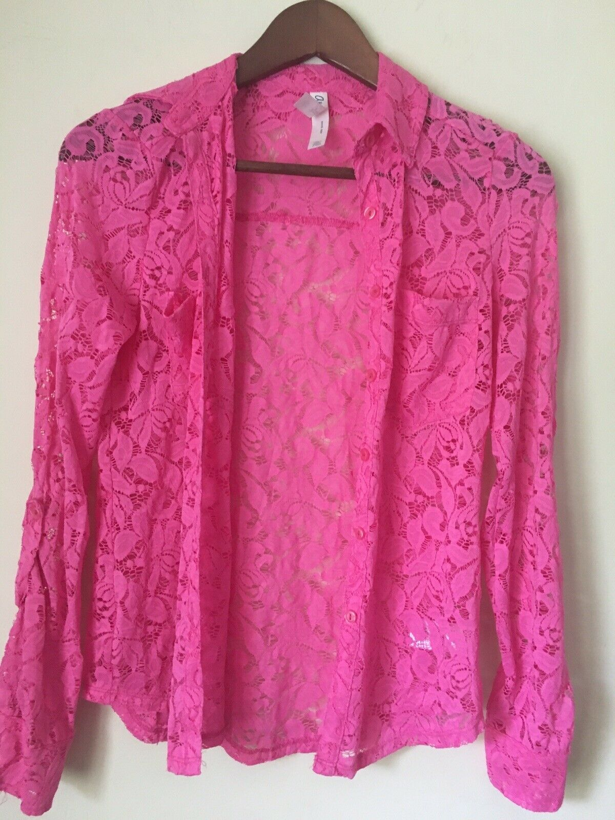 Primary image for Trendy AEROPOSTALE pink lace SWEATER / SHIRT. Size XS