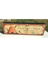 Wood Message Block 5W1354 Pleasant Words are like honeycomb   - $9.95
