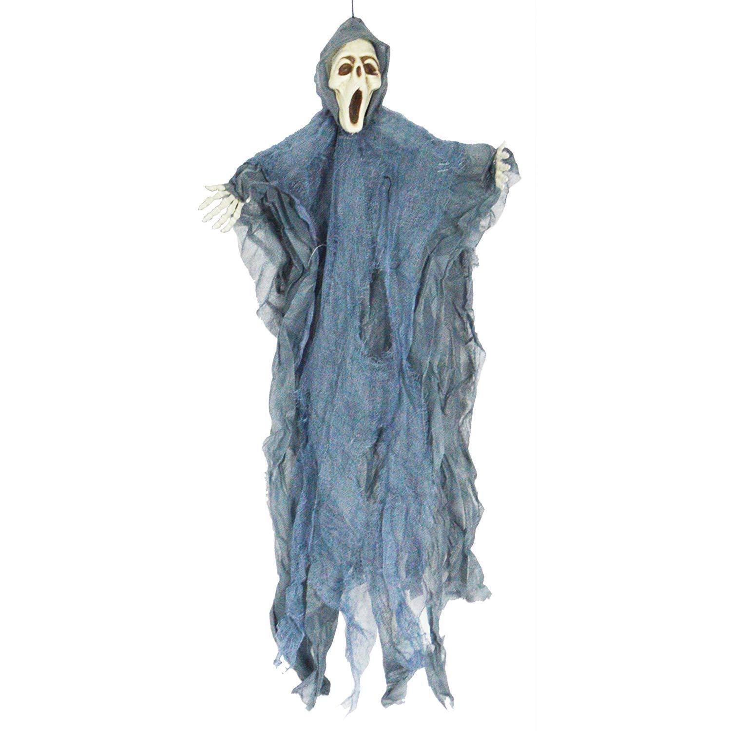 Halloween Hanging Witch Prop Animated Skeleton Ghost Scary Yard Outdoor Decor