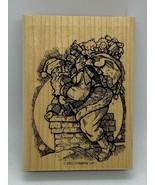 Stampin' Up! Santa Claus Old St. Nick Vintage Wood Mounted Rubber Stamp - $9.60